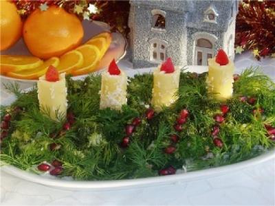 новый год,салаты,новогодние салаты,2014 год,стол,праздник,веселье,еда