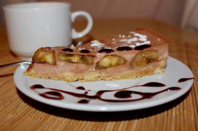 14 февраля,день влюбленных,день святого валентина,февраль,торт,банан,шоколад,выпечка