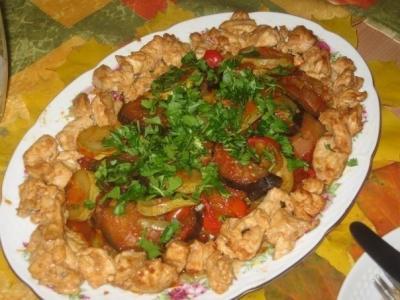 курица,овощи,кухня,готовка,духовка,еда,ужин,своими руками