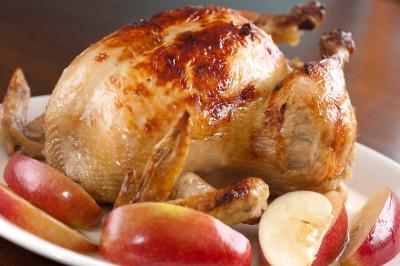 курица,яблоки,еда,праздник,кухня,духовка,плита,курица с яблоками