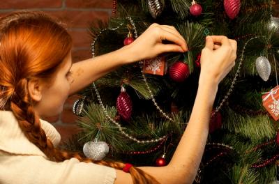 елка,украшать,наряжать,новый год,обезьяна,2016,зима,праздник