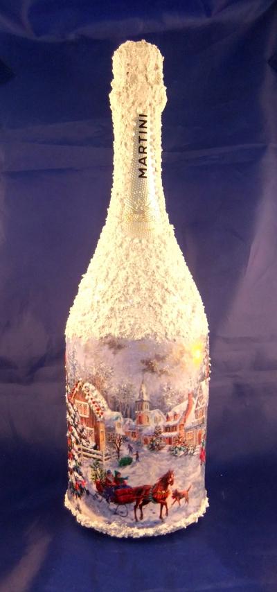 оформление шампанского,новогоднее шампанское
